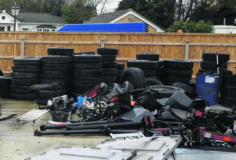 Used van dealer Daniel Bane illegally dismantled vehicles and burnt tyres at his rural scrap yard at Small Acres