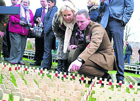 This Is Wiltshire: Hundreds visit the Lydiard Field of Remembrance