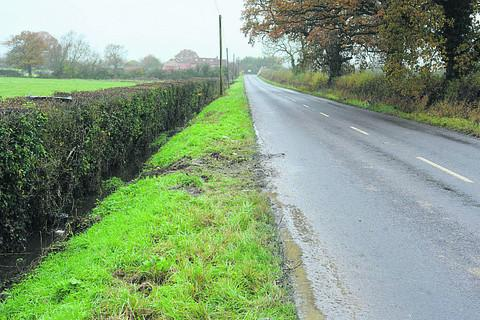 The scene of the accident at Clivey, near Dilton Marsh