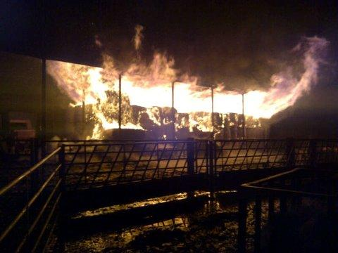 This Is Wiltshire: Crews tackle fire near Royal Wootton Bassett