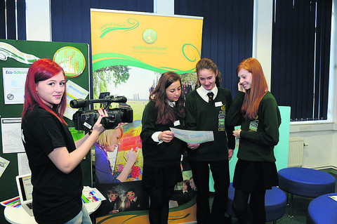 Hardenhuish students filmed by TV and film student Sophie
