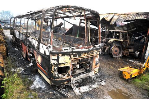 This Is Wiltshire: Farmer in shock as blaze destroys collection of vintage vehicles