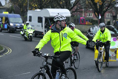 This Is Wiltshire: Matt Baker leads from the front as the One Show team head out of Trowbridge
