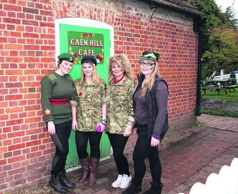 This Is Wiltshire: Lauren Harwood, Alice O'Brien, Molly Petherick and Megan Gee at the Caen Hill Café