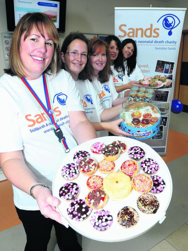 This Is Wiltshire: A cake sale at GWH has raised money for the bereavement suite in the maternity ward. From the left are organiser Laura Kirby Deacon, Jo Millard, Sandy Jones, Jayne Dowell and Kate Gannon