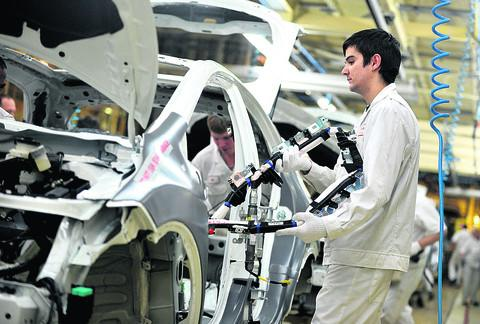The production line at Honda, where a faulty tool suspended production