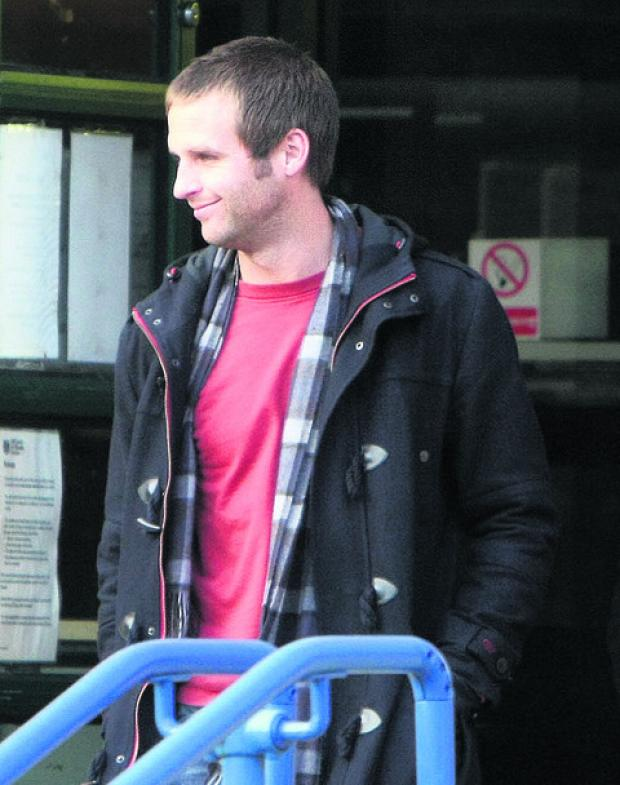 David Flynn pictured leaving Swindon Magistrate's Court