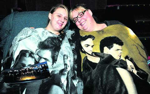 This Is Wiltshire: Fans Krista North and Pip Mackie settle down for the marathon screening