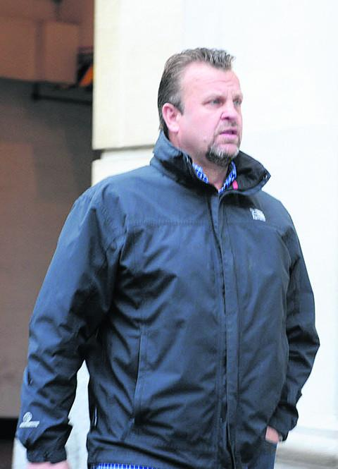 Richard Elmes arriving at court today
