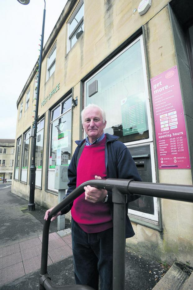 This Is Wiltshire: Chippenham Civic Society Owen Pennell, who is worried by the Post office move to the One Stop Store