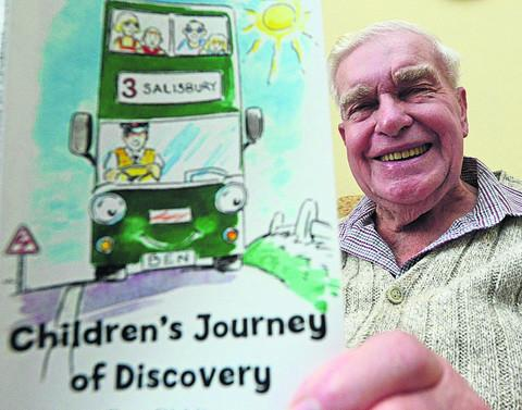 This Is Wiltshire: Retired railwayman Reg Giddings with his book