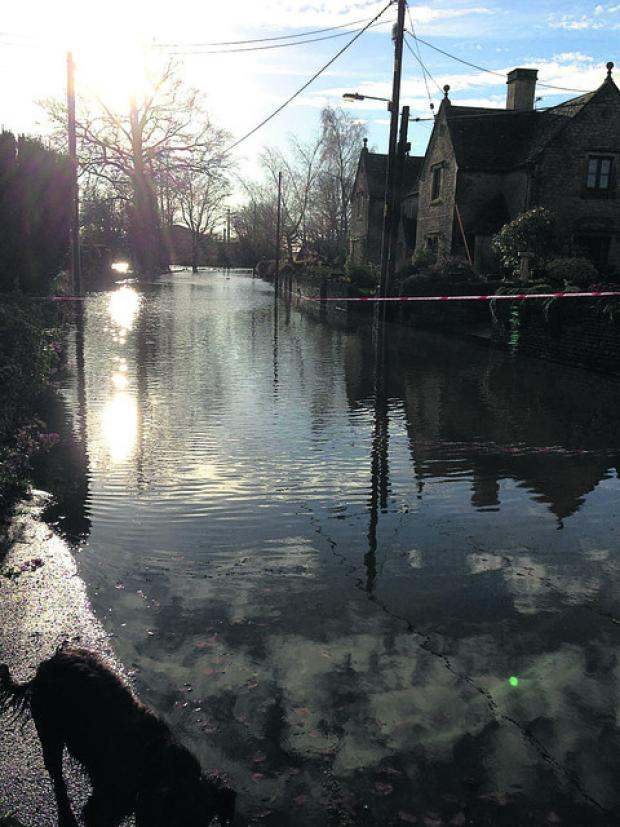This Is Wiltshire: The flooding in Alderton