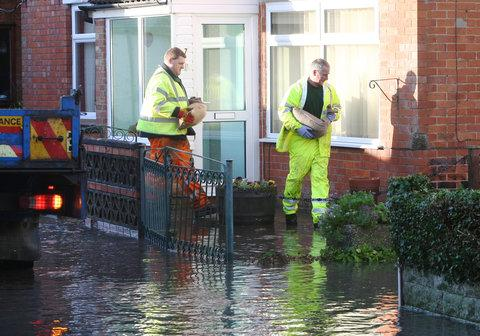 This Is Wiltshire: Motorists and residents affected by flooding