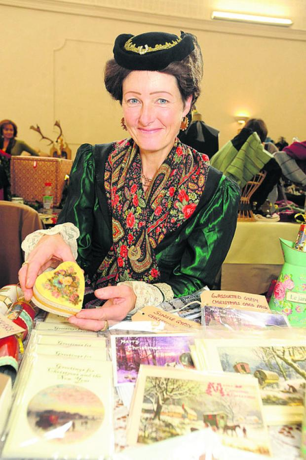 This Is Wiltshire: Warminster's Niki Carpenter in Victorian costume, with her Victorian-style cards