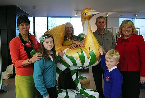 This Is Wiltshire: The bustard was named following a competition ran for under 12's during September and October. The council received more than 40 entries