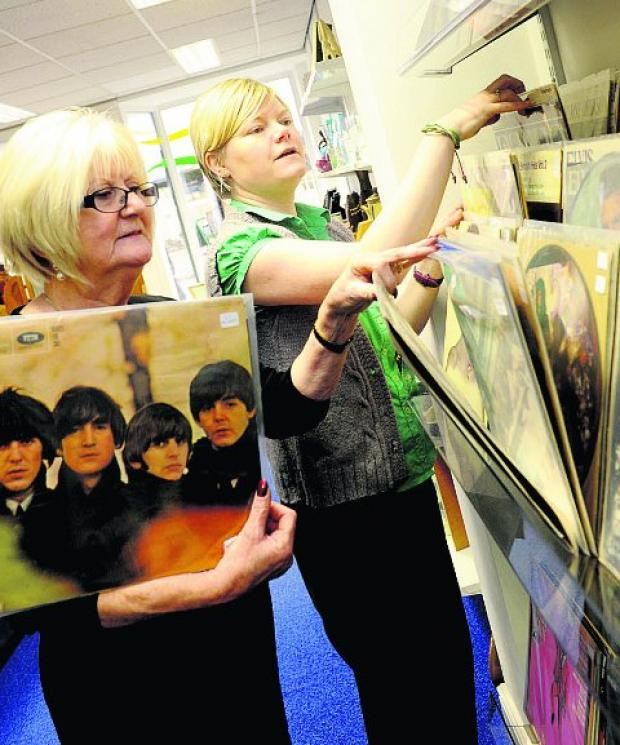 This Is Wiltshire: MUSIC DONATIONS Hazel Maull and Tracey Nicholls    Picture: SIOBHAN BOYLE