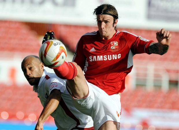 Swindon Town's Aden Flint