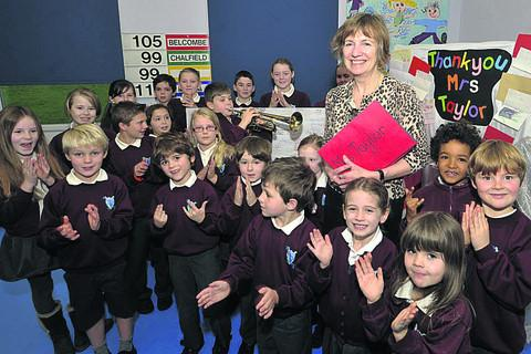 This Is Wiltshire: Shiel Taylor says goodbye to Fitzmaurice pupils