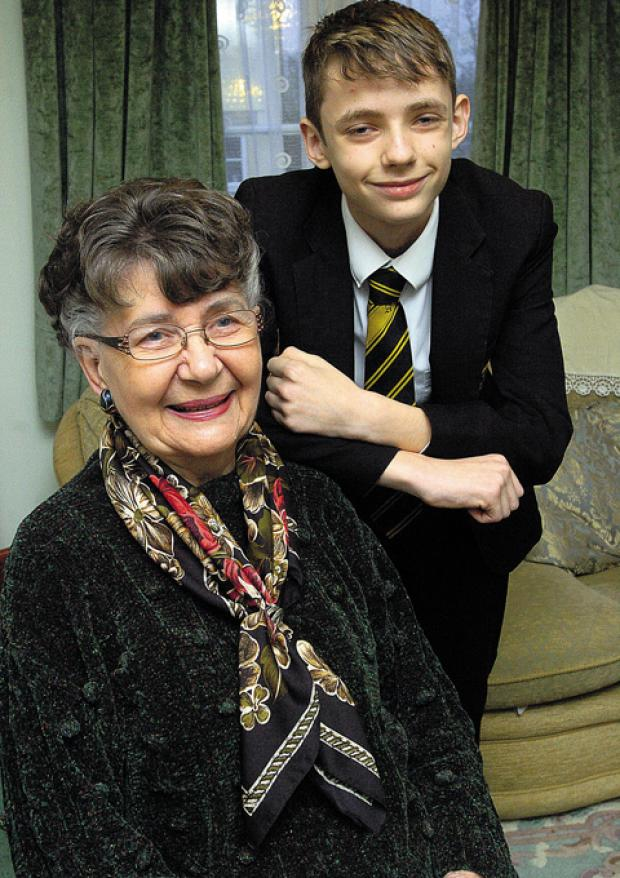 This Is Wiltshire: James Turner with his gran Pamela Cooper