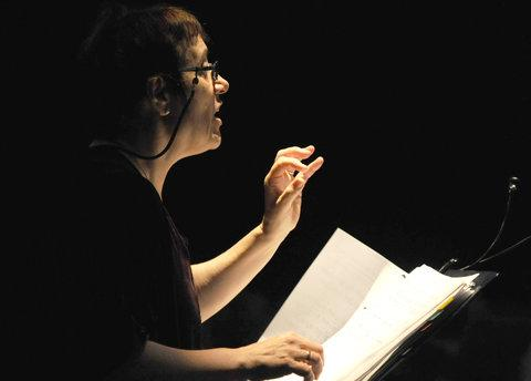 This Is Wiltshire: Janice Thompson, during a performance