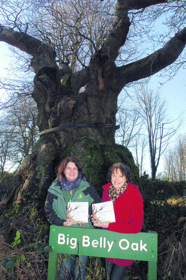 This Is Wiltshire: Author Barbara Townsend with Heather Lilley, from the Forestry Commission, with the book