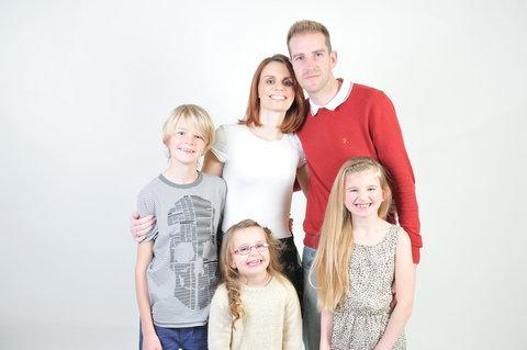 This Is Wiltshire: Natasha Macdivitt with husband Danny and children Joshua, Hayleigh and Katie