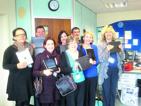 This Is Wiltshire: The Alabaré Include team with their iPads