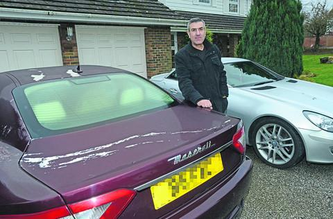 This Is Wiltshire: Frank Chimirri has had thousands of pounds worth of damage done to his cars by vandals