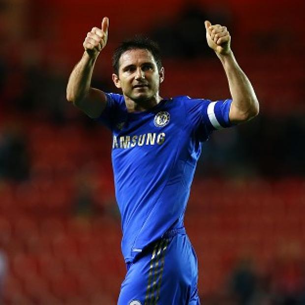 This Is Wiltshire: Frank Lampard looked particularly emotional during his celebrations against Southampton
