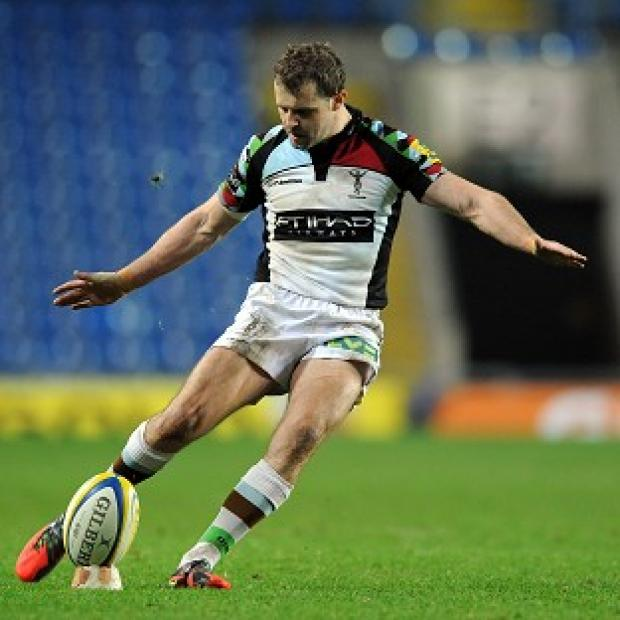 Nick Evans scored a try and kicked four conversions and a penalty for Harlequins