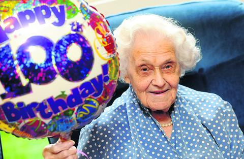 This Is Wiltshire: Jessie Taylor celebrates her 100th birthday
