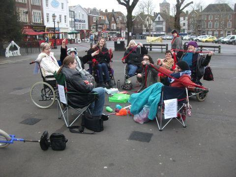 This Is Wiltshire: Knit-in in city centre