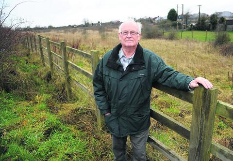 This Is Wiltshire: Blunsdon Parish Council chairman Stuart Boyd on the former farmland earmarked for a development of 55 homes