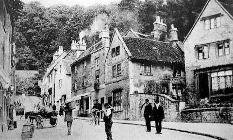 This Is Wiltshire: A yesteryear picture of Market Street, Bradford on Avon