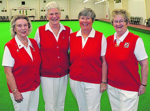 North Wilts home rink team of Jan Tombs, Gill Lillicrap, Kath Lloyd, Fizz Mace