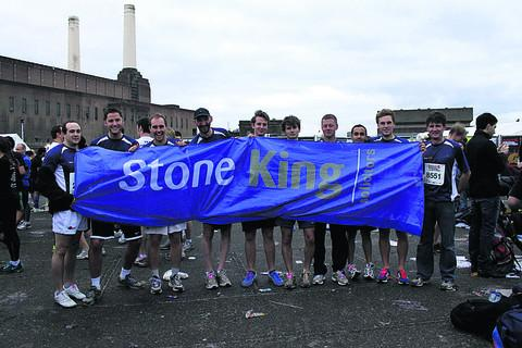 The Stone King team, from left, Luke Exton, Jon Moore, Tony Pidgeon, Hugh Pearce, Darren Hooker, Matthew Watson, William Berry, Lee Davis, Tom Johnson and Nick Watson