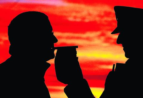 85 drivers were arrested for breath tests during the festive drink-drive crackdown
