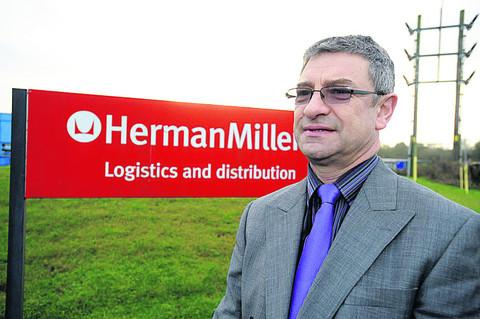 Rob Perks outside Herman Miller at Methuen Park in Chippenham