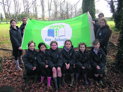 This Is Wiltshire: Pupils from Years 2 to 6 at St Margaret's Preparatory School, Calne, worked hard to ensure its Green Flag status was re