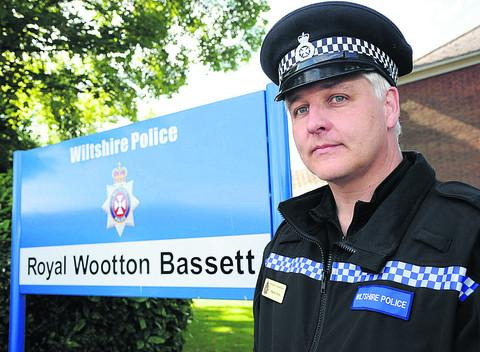 This Is Wiltshire: Sergeant Martin Alvis has asked Royal Wootton Bassett residents to be vigilant for suspicious activity