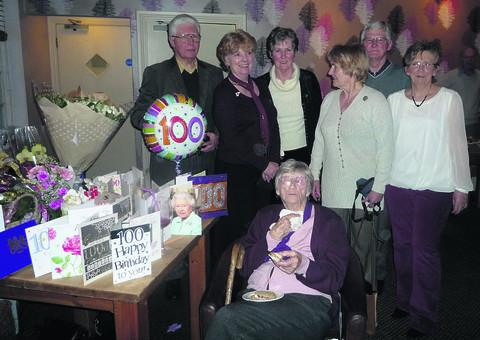 Ada Collier celebrates her 100th birthday surrounded by her family
