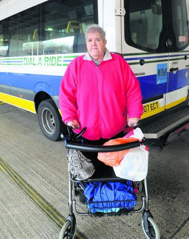This Is Wiltshire: Bridget Coady uses the Dial-A-Ride service, which is one of those facing funding cuts