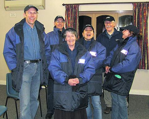 Trowbridge street pastors, from left, Stewart Palmen, Phil Bradley, Dorothy Taylor, Eunja Palmen, David Goldstone and Jacqui Bates