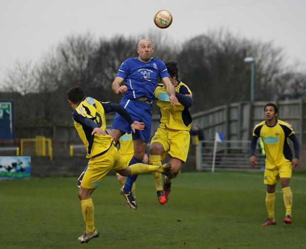 This Is Wiltshire: Alan Griffin in action against Gosport at Hardenhuish Park (Picture by Robin Foster)