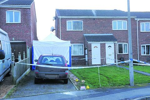 This Is Wiltshire: A police forensic tent at the scene in Bowerhill