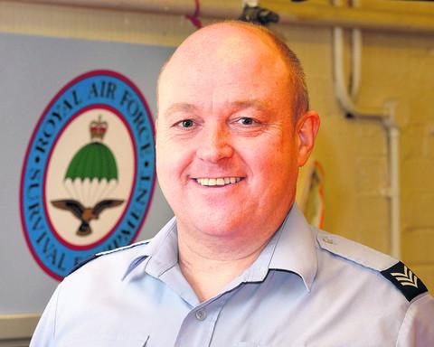 Sgt Mark Gooding SNCO IC Training & Standards/Aircraft AEA, RAF Brize Norton launches a fundraising initiative to help the Anthony Nolan Trust after he succesfully recovered from blood cancer with its help