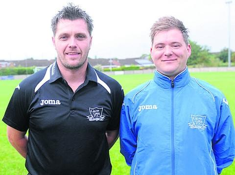 This Is Wiltshire: Jeff Roberts (left) has stood down at Calne Town, leaving Tony Brown (right) as joint-manager