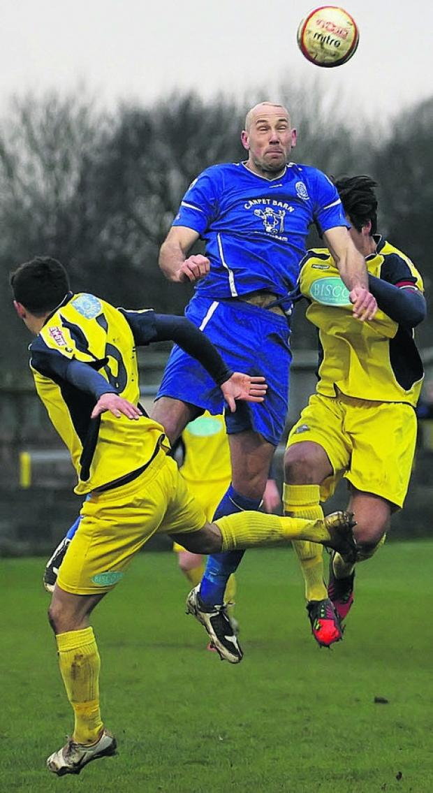 This Is Wiltshire: Aaln Griffin rises high in Chippenham's draw with Gosport last weekend
