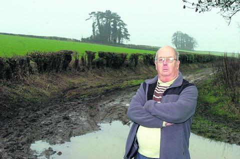 This Is Wiltshire: Coun Albert Wooldridge at the site of the Green Lane allotments