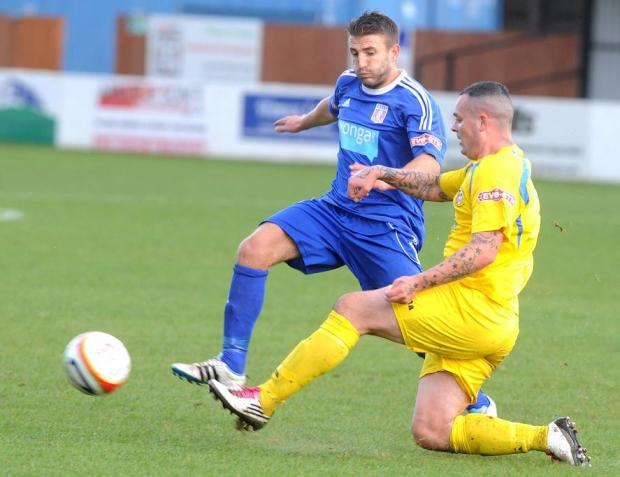 This Is Wiltshire: Supermarine midfielder Chris Taylor, left